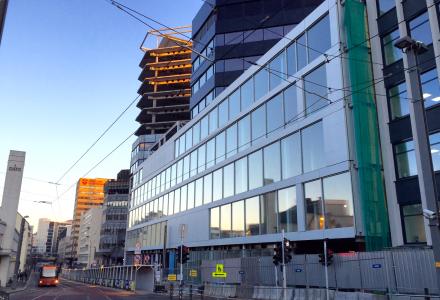 UTVIKLING: Media City vokser frem. (Foto: Torgeir Hågøy)