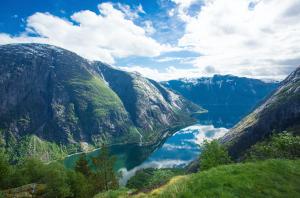 MALERI: Naturen i Eidfjord er et maleri verdig. Her fra Kjeåsen.
