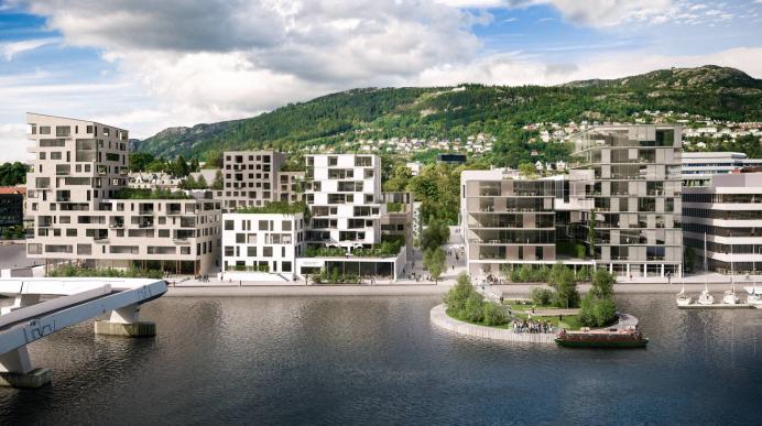 BOLIGER: GC Rieber Eiendom planlegger boliger på Marineholmen. PLANTEGNING: Arkitektkontorene HLM og b+b.