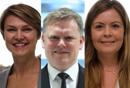 Silje Remøy, Lodve Gidske og Therese Foss tar for seg arbeidsinnleie og entreprise i denne kommentaren. (Foto: Ey)