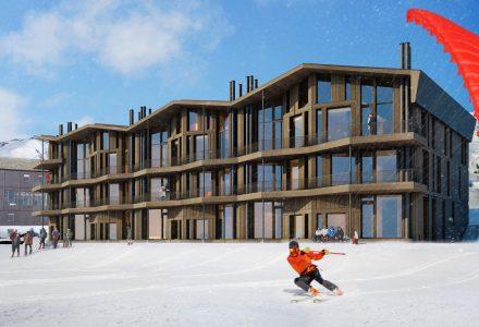 BYGGES: Et leilighetskompleks på 22 leiligheter skal bygges på Finse. Oppstart er når vinteren slipper taket.