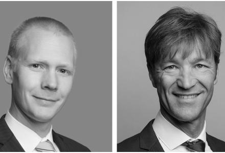 Advokat Ivar Strandenes (t.v.), Senioradvokat og Advokat Vidar Havsgård, Partner og leder av eiendomsavdelingen i Advokatfirmaet Thommessen AS