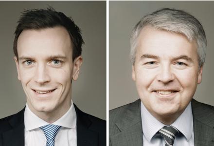 Fast advokat Vegard Thunes Jørgensen og partner Bjørn Frode Skaar i Wikborg, Rein & Co. Advokatfirma DA (Foto: Erik Burås/Studio B13)